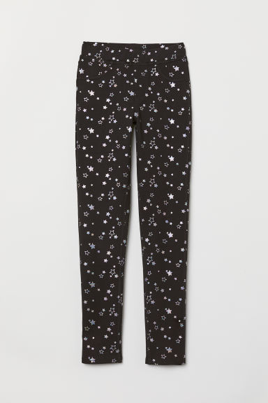Treggings - Black/Stars - Kids | H&M CN