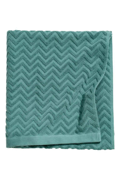 Jacquard-weave bath sheet - Dark turquoise - Home All | H&M CN
