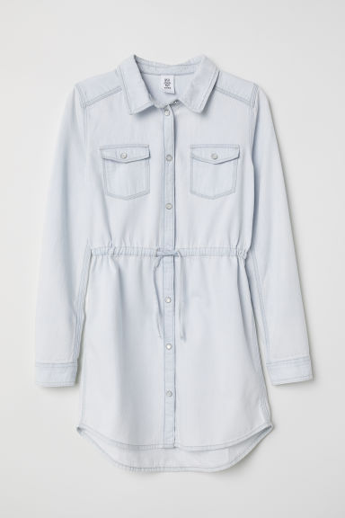 Shirt dress - Pale denim blue - Kids | H&M CN