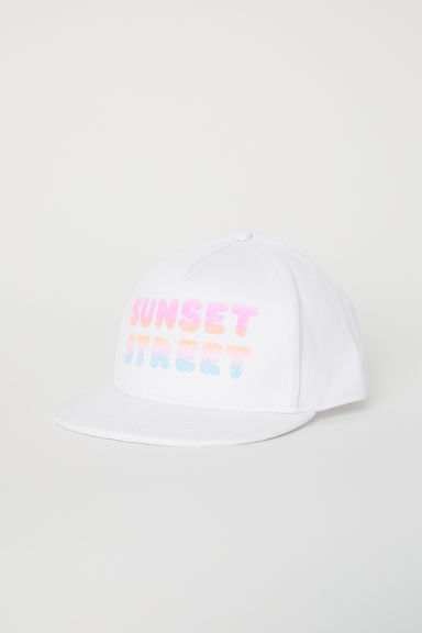 Printed cap - White/Sunset Street - Kids | H&M