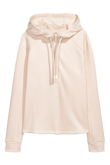 Fleece sports top - Beige - Ladies | H&M GB