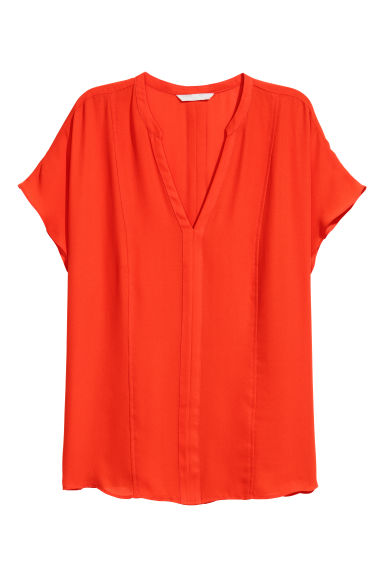 Short-sleeved blouse - Orange - Ladies | H&M