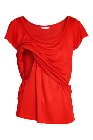 MAMA Nursing top - Bright red - Ladies | H&M
