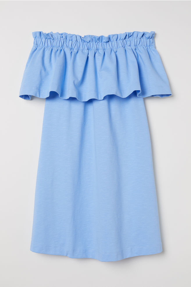 c8566dd8894c Off-the-shoulder dress - Light blue - Ladies