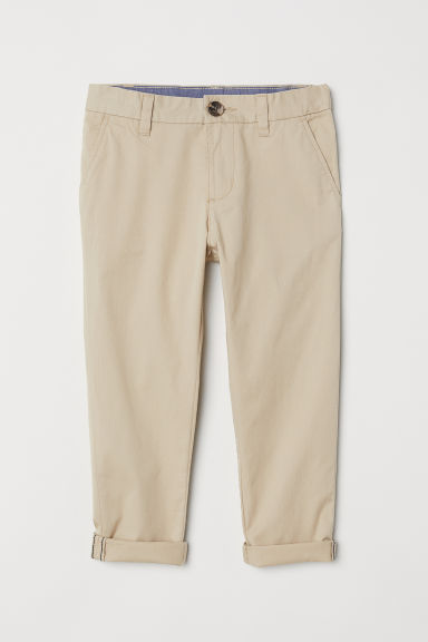 Cotton chinos - Beige -  | H&M CN