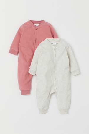 Pyjamas en polaire, lot de 2
