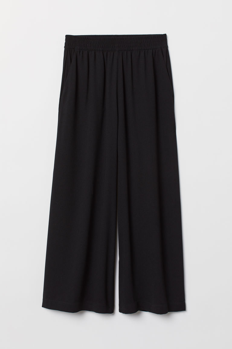 Ankle-length pull-on trousers - Black -  | H&M