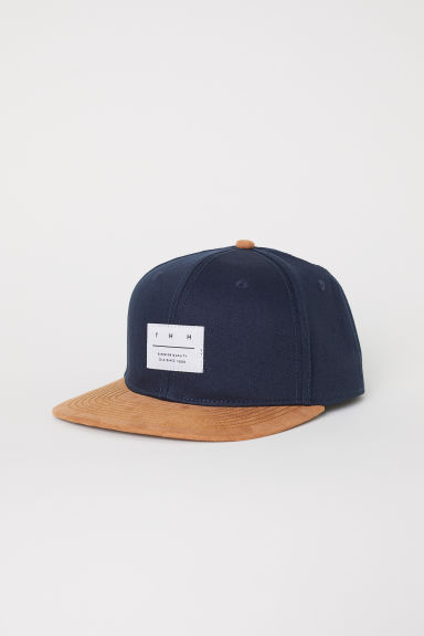 Cap with appliqué - Dark blue - Men | H&M GB