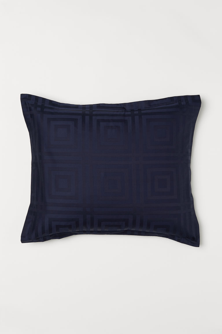 Funda de almohada en jacquard - Dark blue - Home All | H&M US