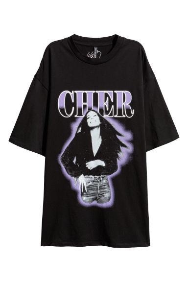 Printed T-shirt - Black/Cher -  | H&M GB