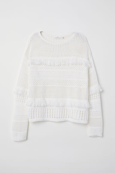 Pullover a punto largo - Bianco - DONNA | H&M IT