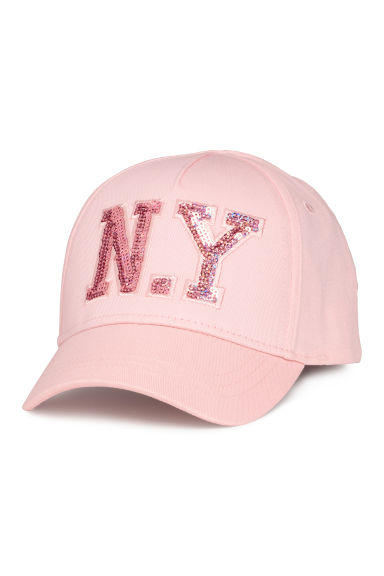 Cap with an appliqué - Pink/N.Y - Kids | H&M CN
