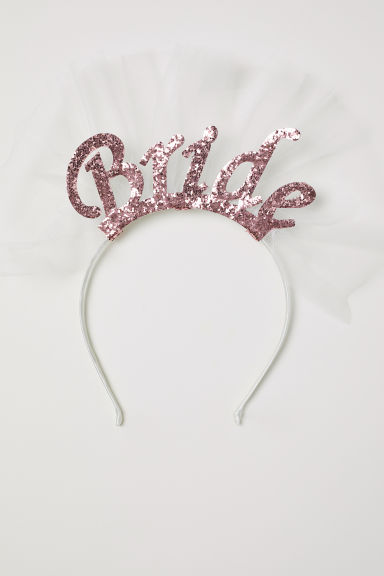 Alice band with appliqués - White/Bride - Ladies | H&M