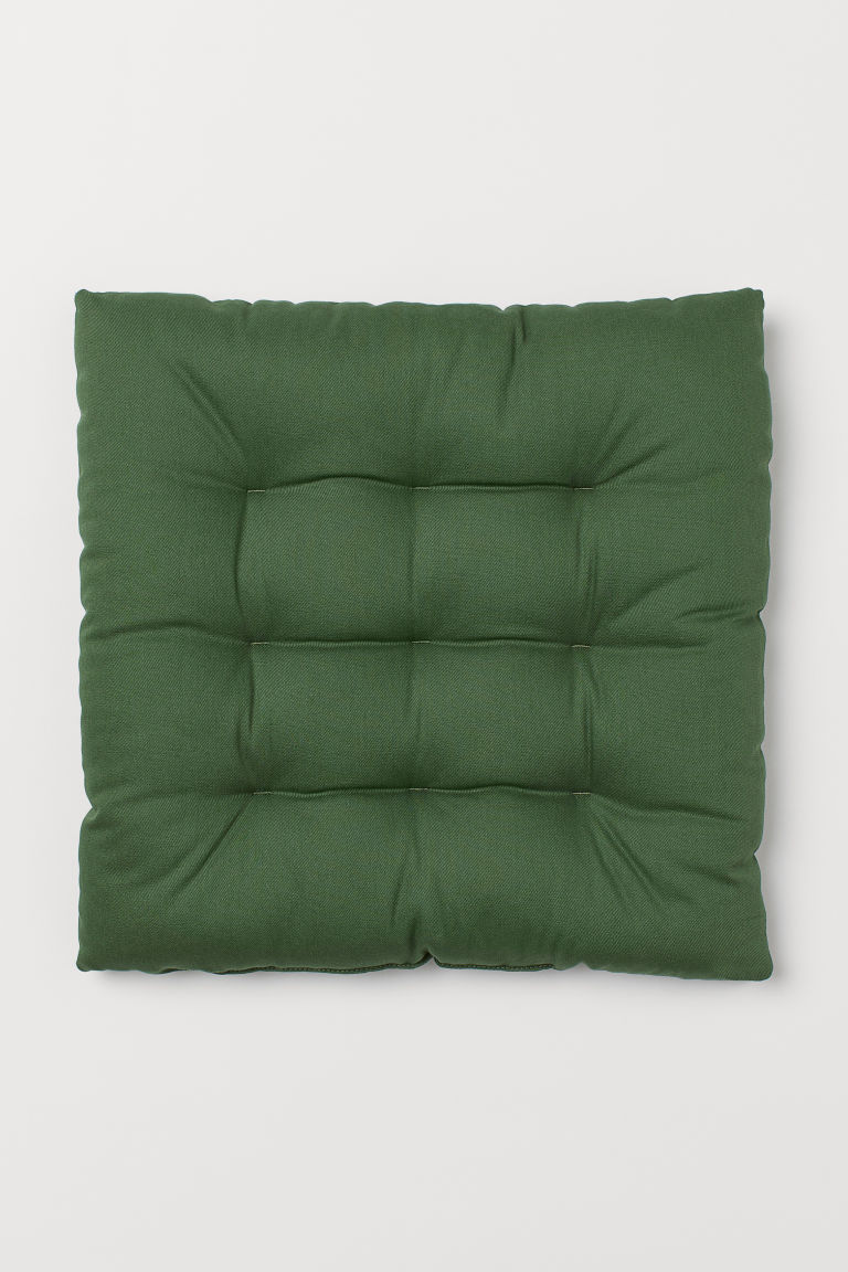 Twill seat cushion - Dark green - Home All | H&M CN