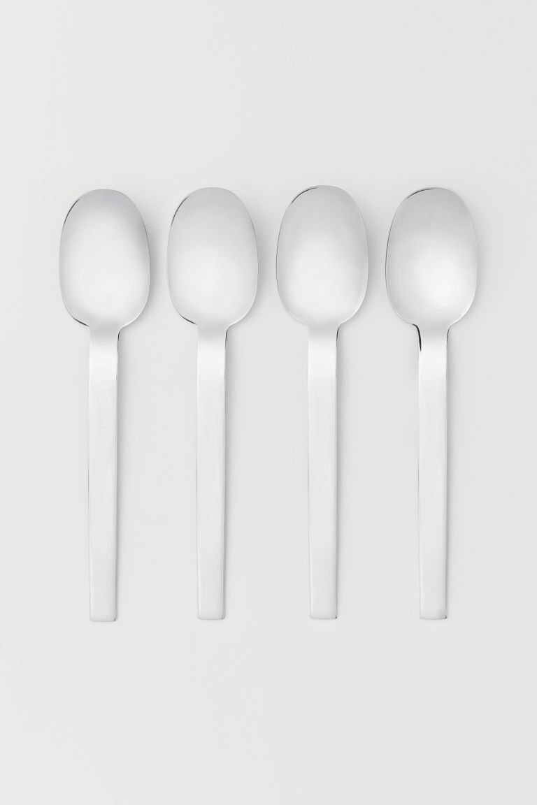 4-pack spoons - Argentato - HOME | H&M IT