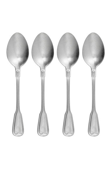 4-pack spoons - Silver-coloured - Home All | H&M IE