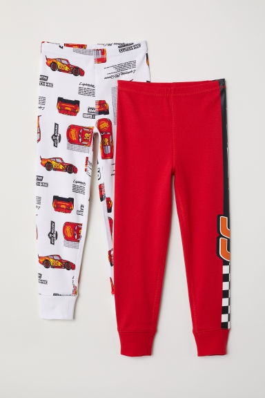 2-pack longjohns - Red/Lightning McQueen - Kids | H&M CN