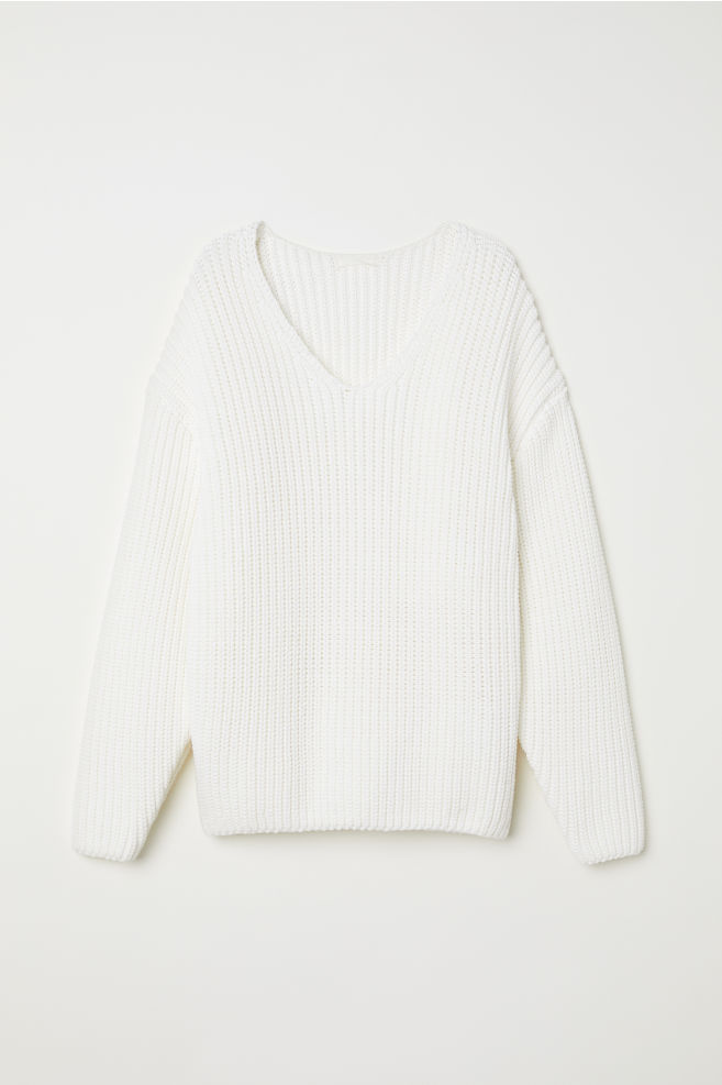 8d82aa774073 Knitted jumper - White - Ladies