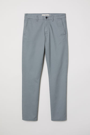 Cotton chinos Skinny fit - Grey green -  | H&M GB