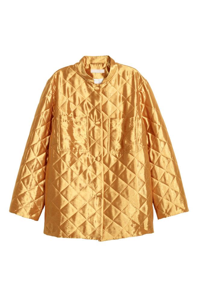 Prešívaná bunda - zlatá - ŽENY  7c3cda1cba8