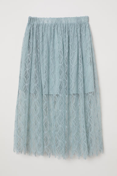 Lace skirt - Dusky green -  | H&M CN