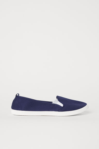 Slip-on sneakers - Donkerblauw - DAMES | H&M BE
