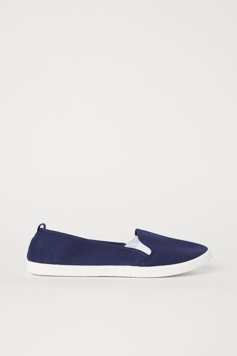 Slip-on trainers - Dark blue - Ladies | H&M CN