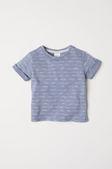 T-shirt with a text print - Dusky blue - Kids | H&M