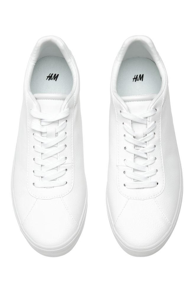 6da6df8f8b0c ... Sneakers - White/faux leather - Ladies | H&M ...