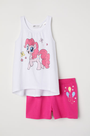 Vest top and shorts - Cerise/My Little Pony - Kids | H&M