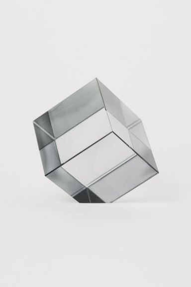 Glass Paperweight - Dark gray - Home All | H&M US