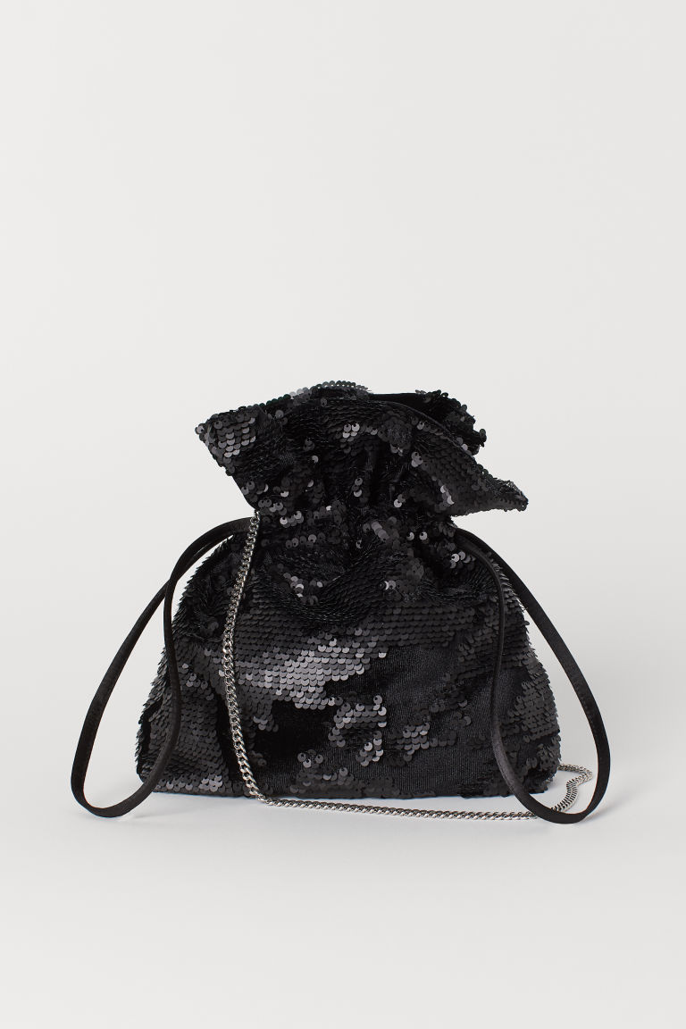 Sequined pouch bag - Black - Ladies | H&M