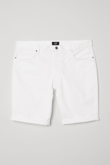 Cotton shorts Slim Fit - White - Men | H&M CN