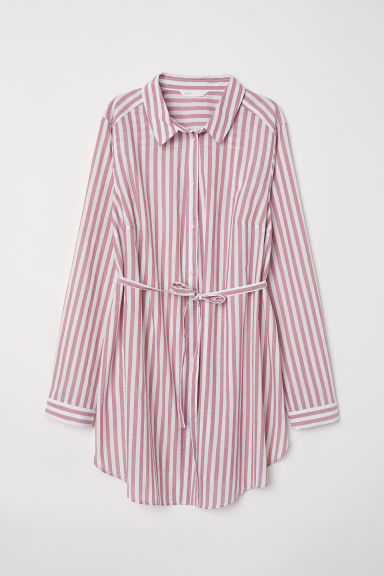 MAMA Cotton tunic - Red/Striped - Ladies | H&M CN