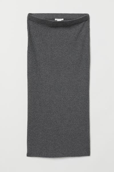 H&M - Jupe en maille côtelée - 1