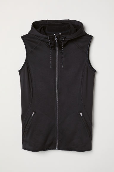 Fleece gilet - Black - Ladies | H&M CN