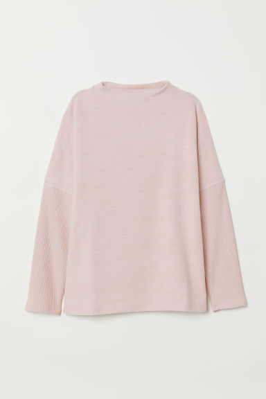 Fine-knit jumper - Powder pink -  | H&M