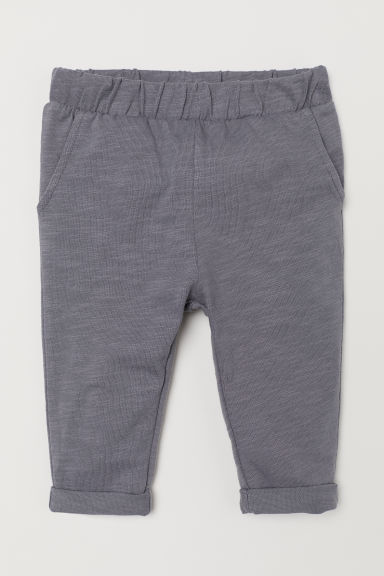 Cotton pull-on trousers - Grey - Kids | H&M CN