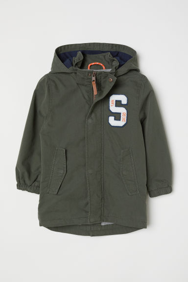 Parka with a hood - Khaki green - Kids | H&M CN