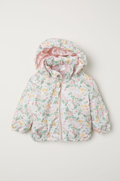 Padded jacket - White/Floral - Kids | H&M