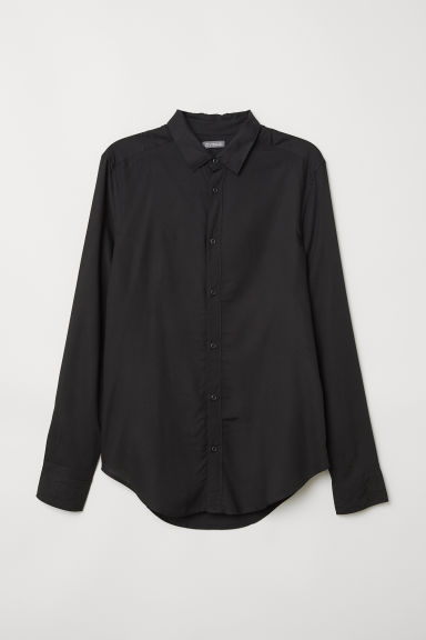 Camicia in viscosa - Nero - UOMO | H&M IT