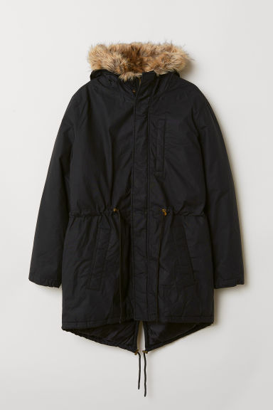 Padded parka - Black - Men | H&M