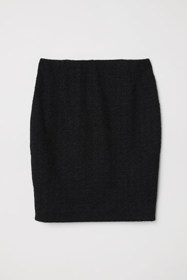 Jacquard-knit skirt - Black - Ladies | H&M
