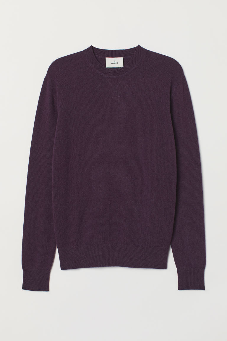 Cashmere jumper - Dark purple - Men | H&M