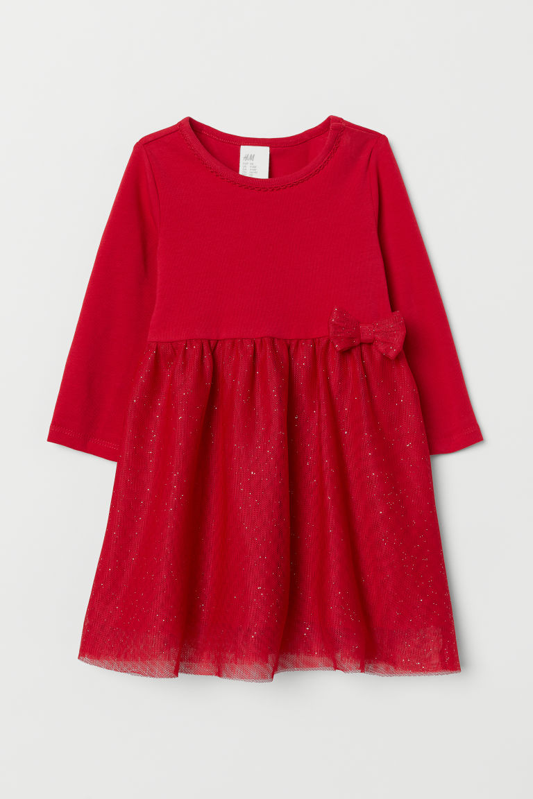 Tulle dress - Red -  | H&M