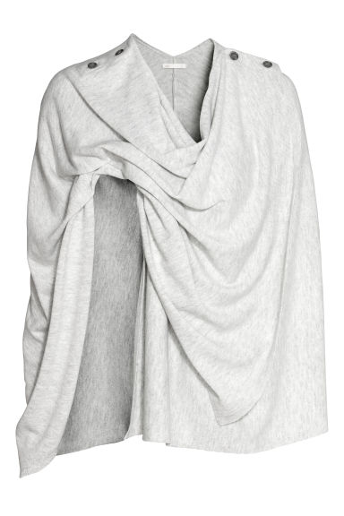 MAMA Nursing poncho - Light grey marl - Ladies | H&M IE