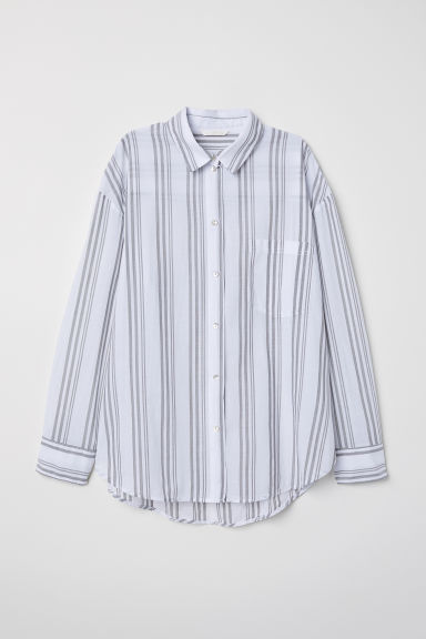 Oversized shirt - White/Striped - Ladies | H&M