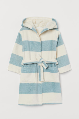 Cotton terry dressing gown