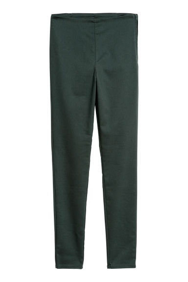 Stretch trousers - Dark green - Ladies | H&M CN