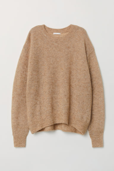 Mohair-blend jumper - Beige marl - Ladies | H&M